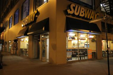 Police said a man robbed a Subway restaurant in the Loop early Monday morning.