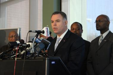 At a weekly news conference to show off guns seized on Chicago's streets, Supt. Garry McCarthy again called on Illinois lawmakers to pass tougher gun control laws, including mandatory minimums for unlawful possession of a gun and compelling gun owners to report a lost, stolen or sold gun.