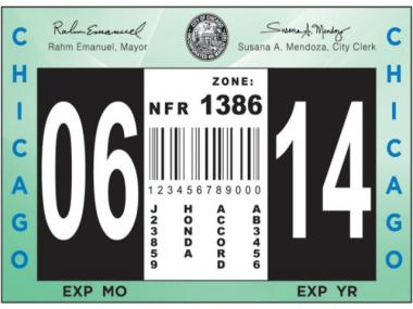 The 2013 City of Chicago vehicle sticker has a brand new look that will allow for year-round sales in 2014.