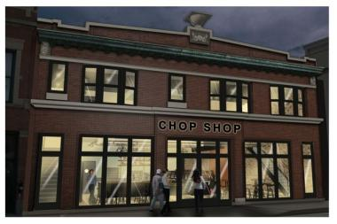 The Chicago Chop Shop complex at 2033 W. North Ave. will bring a traditional butcher shop, restaurant and music venue to a long-vacant former auto body shop just west of the Milwaukee-Damen-North intersection.