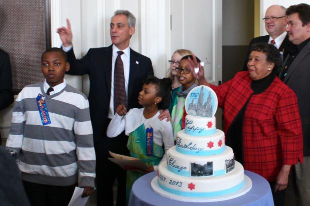 The Chicago History Museum hosted a party for Chicago's 176th birthday Monday, which was attended by Mayor Rahm Emanuel.