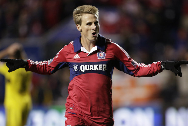 Chicago Fire forward Chris Rolfe is one of the team's top players, and he loves living in Lincoln Park near Oz Park.
