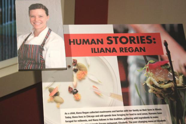 "Elizabeth chef Iliana Regan is featured in the Nature Museum's exhibit, ""Food: The Nature of Eating."""