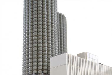 Illinois Institute of Technology freshman Rocco Buttliere rebuilt Chicago's famed Marina City towers and surrounding architecture on a 1:650 scale using his signature medium, Legos.