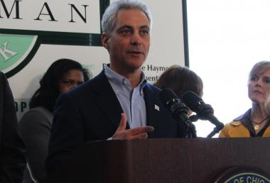 Mayor Rahm Emanuel defended the decision to shutter 54 public schools Saturday at a press conference in the city's Pullman neighborhood.