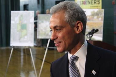 "Mayor Rahm Emanuel says ""Chicago Plays"" will renovate 300 city playgrounds over the next five years."