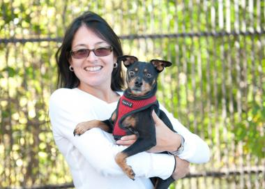 Melissa Ramirez, of Logan Square, was inspired to start her dog seat belt company after her dog Max was injured in a crash.