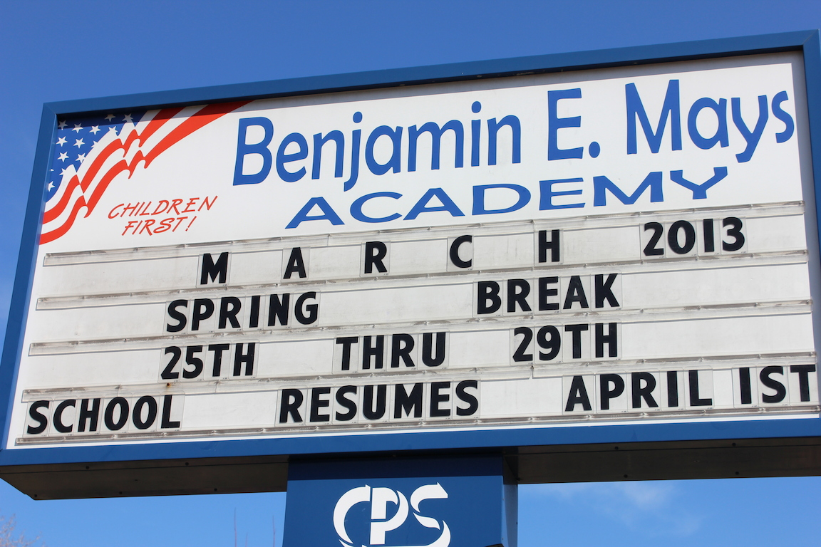 Students at Benjamin Mays Academy in Englewood are being relocated to Benjamin Banneker Elementary next school year because the Banneker building as better facilities and more space, according to Chicago Public Schools officials.