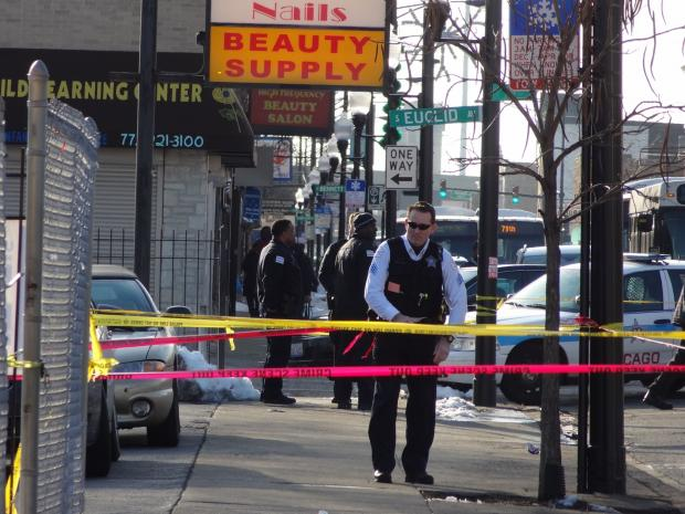 A 17-year-old boy was in serious condition after being shot in the head in South Shore Friday afternoon, police said.