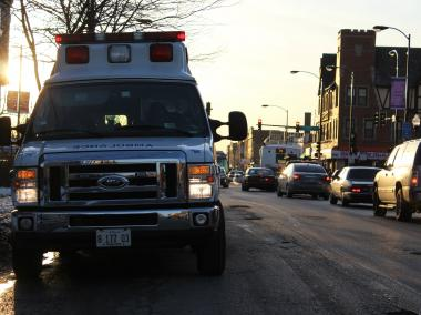 A man was shot in the back in South Shore Saturday, police said.