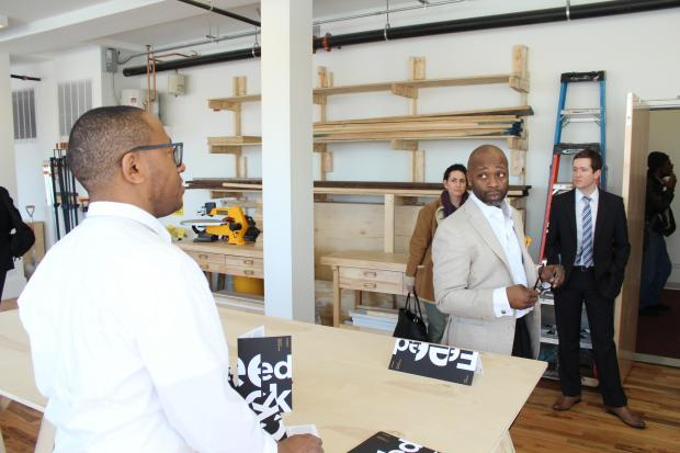 The University of Chicago and artist Theaster Gates celebrated the opening of the new Arts Incubator in Washington Park.