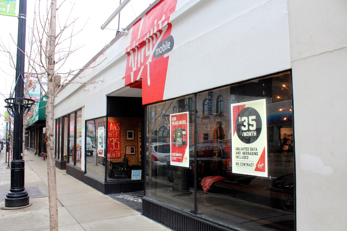 The Virgin Mobile flagship store at 2562 N. Clark St. was robbed of thousands of dollars worth of phones early Monday morning.