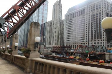 "Here we go again. Phase II of Wells Street Bridge construction runs April 26-May 6, disrupting Brown and Purple line ""L"" service."