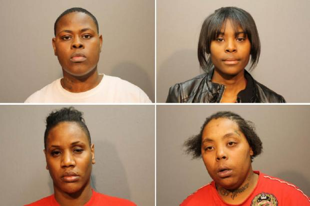 Four women who committed robberies across the city in March were hit with $250K-350K bonds Thursday.