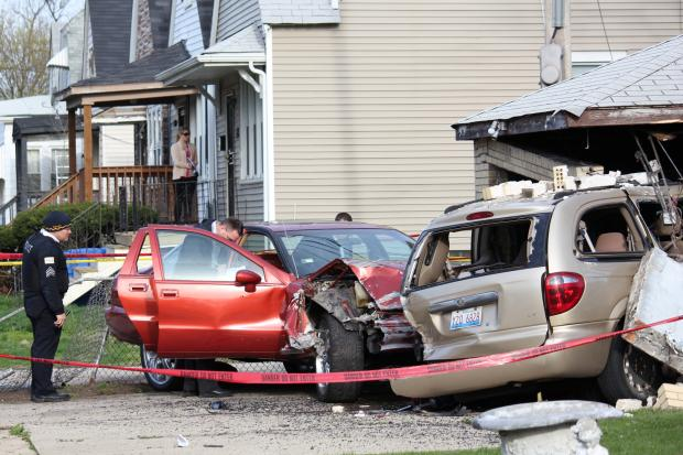 A man was sent to the hospital after a wreck in the 11500 block of South Lowe Avenue, police said.