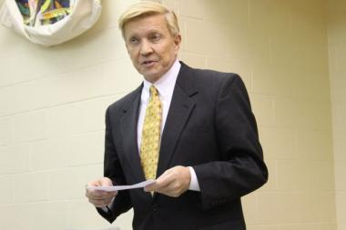 Ald. Bob Fioretti (2nd) attended a Wicker Park community group meeting Wednesday.  Fioretti gains sections of Wicker Park and Bucktown in the new ward map.