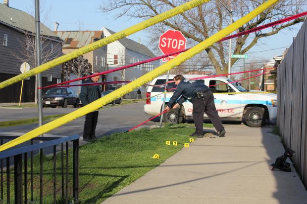 A man was shot to death in Back of the Yards on Monday, April 22, 2013.