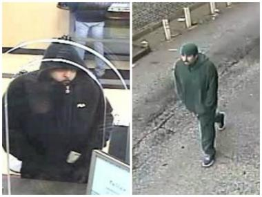 "Surveillance photos of a suspect dubbed the ""Bully Bandit"" by the FBI."