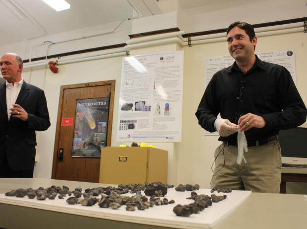 A private meteorite collector helped the Field Museum secure more than two pounds of fragments, which will go on display Wednesday.