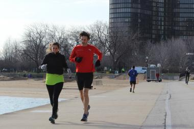 Runners near Ohio Street Beach Tuesday morning said the bombings at the Boston Marathon would not deter them from running marathons.
