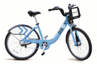 Divvy bikes are sturdy, unisex and intended to be one size fits all.