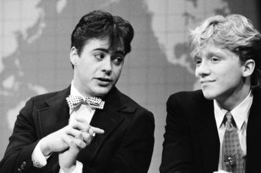 "Robert Downey Jr. and Anthony Michael Hall starred in the movie ""Johnny Be Good,"" a film Roger Ebert hated."