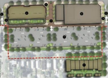 A city-commissioned master plan envisions a three-to-four story mixed-use development on the former bank property, as well as restaurants along the side streets away from Irving Park Road.