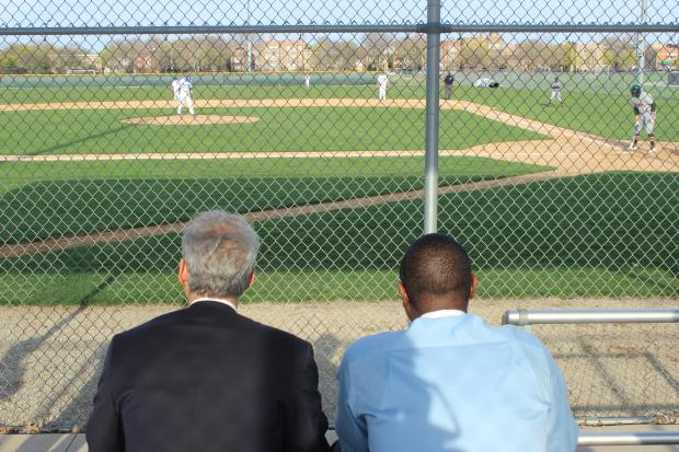 "Brooks College Prep principal said a game-day visit from Mayor Emanuel made players and students feel ""respected and loved."""