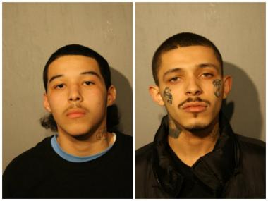Javier Garza, 17, of Elmwood Park (l.) and Damien Garza, 19, of the 4500 block of South Wood Street, were charged with first-degree murder.
