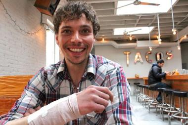 Joseph Gleeson, 31, a sous chef at Wicker Park's Big Star, was injured in a hit-and-run accident April 4. Co-workers are hosting a benefit April 28 at The Charleston to help pay for Gleeson's medical expenses.