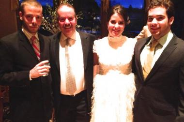 The Marinis family, from left to right:  Paul Marinis, 29, Peter Marinis, 56, Gia Marina, 27, and Evan Marinas, 18.   Not pictured: Luiza Marinas.