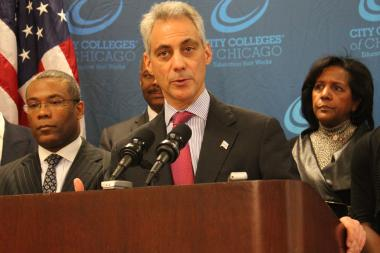 Mayor Rahm Emanuel defended the city's use of security cameras both for major events and for day-to-day issues of public safety.