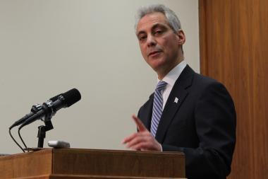 "Mayor Rahm Emanuel says he's trying to ""make a little lemonade out of a big lemon"" on the parking meter deal"