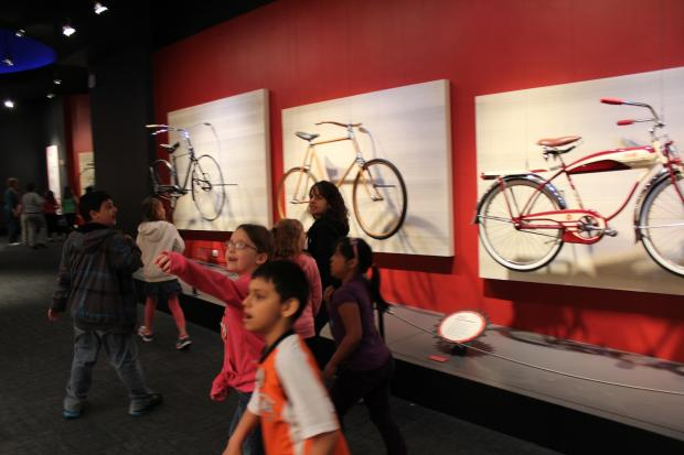 The Museum of Science and Industry opened a new exhibit on Thursday on the 200-year history of the bicycle.
