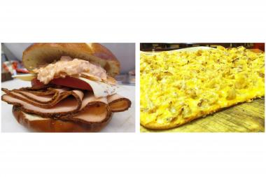 "Around the World Gourmet Sandwiches and Felice's Roman Style Pizza face off in the final round of ""Munch Madness."""