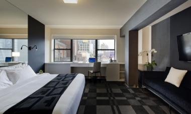 Parkview Developers built a straight-friendly gay hotel in New York last year called Out NYC and plan to build a Chicago location in Boystown. Here is a photo from the NYC hotel.
