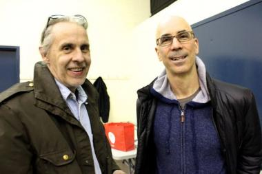 Wicker Park residents Paul Dickman (left) and Craig Norris were among the 30 attendees of a Wicker Park community meeting Wednesday where Ald. Bob Fioretti (2nd) spoke.
