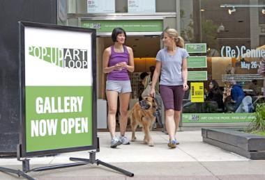 One of the Chicago Loop Alliance's annual projects to activate vacant storefronts is the Pop-Up Art Loop gallery walk.