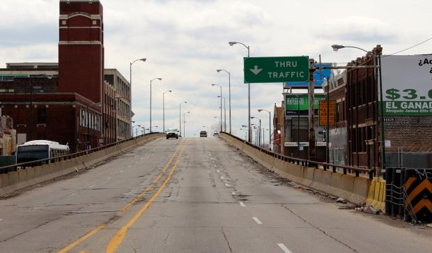 The Ashland Avenue ramp over Pershing Road will soon be demolished.