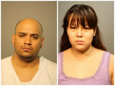 Rodrigo Rodriguez, 29, (L) and Angela Petrov, 21, both of the 2500 block of West Fitch Avenue, are each charged with aggravated battery to a child.