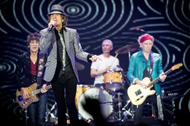 Ronnie Wood, Mick Jagger, Charlie Watts and Keith Richards of The Rolling Stones perform live at 02 Arena on Nov. 25, 2012 in London, England.