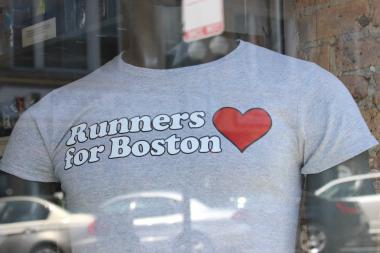 The Runners for Boston shirts will be available for $20 at dozens of stores nationwide including Chicago's Fleet Feet Sports locations.