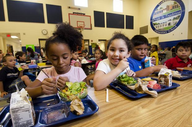 Michelle Obama's anti-obesity campaign means meals must include vegetables and whole grains.