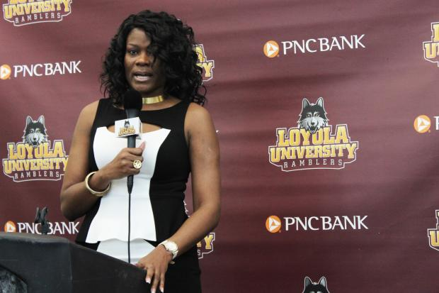 Loyola University announced Sheryl Swoopes would debut in her first head-couching gig with the Ramblers.