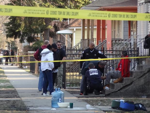Two men were shot in South Chicago Thursday, police said.