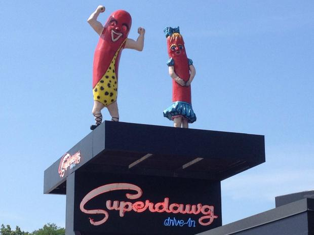 Superdawg was voted the best hotdog in America in a contest by Esquire magainze.