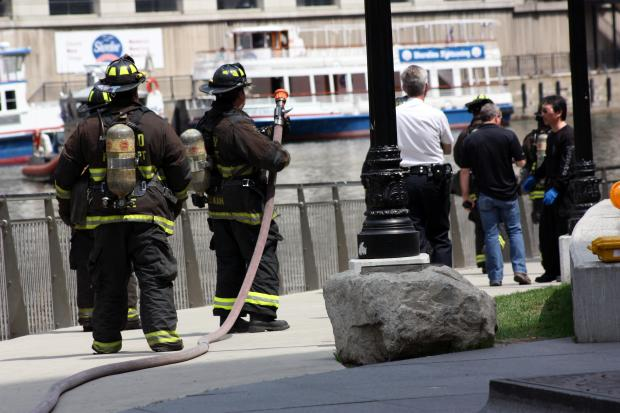 The Michigan Avenue bridge was closed after a suspicious package was reported about 11:20 a.m.