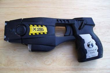 A police-issue taser gun.