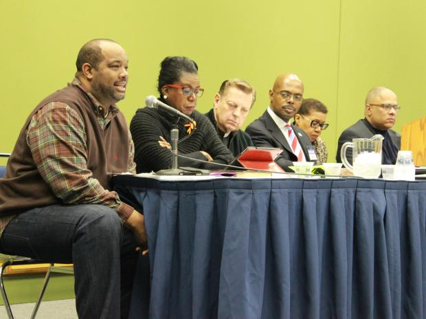"Several Chicago leaders met for ""Violence in Chicago, the Diagnosis and Prognosis,"" during the Black Women's Expo at McCormick Place Saturday."