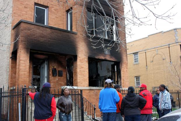 Four were hospitalized and more were displaced after a West Side fire.